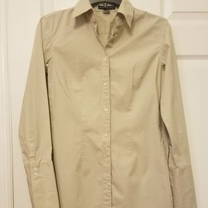 GAP Khaki Button-Up Dress